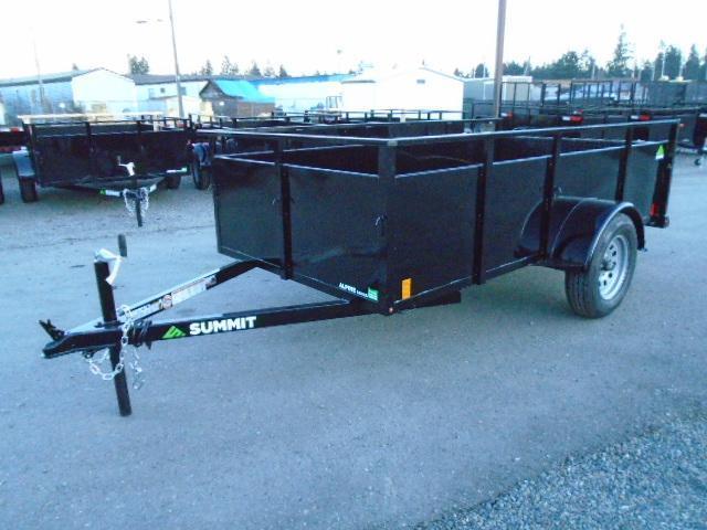 2021 Summit Alpine 5X10 Single Axle W/Split Ramp Utility Trailer
