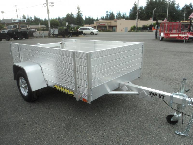 "2022 Aluma 4.5X8 w/24"" Side Kit and Bi-Fold Gate"