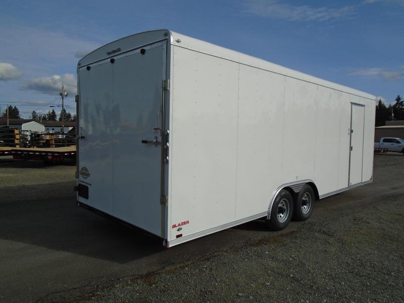 """2021 Cargo Mate Blazer 8.5x24 10K With 12"""" Extra Height / Ramp Door"""
