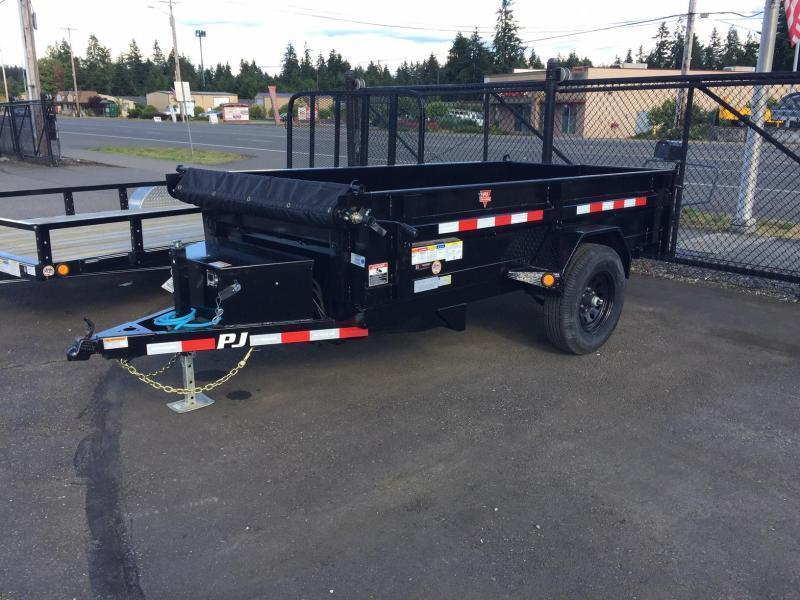 2021 PJ  5x10 5K w/Tarp Kit Dump Trailer