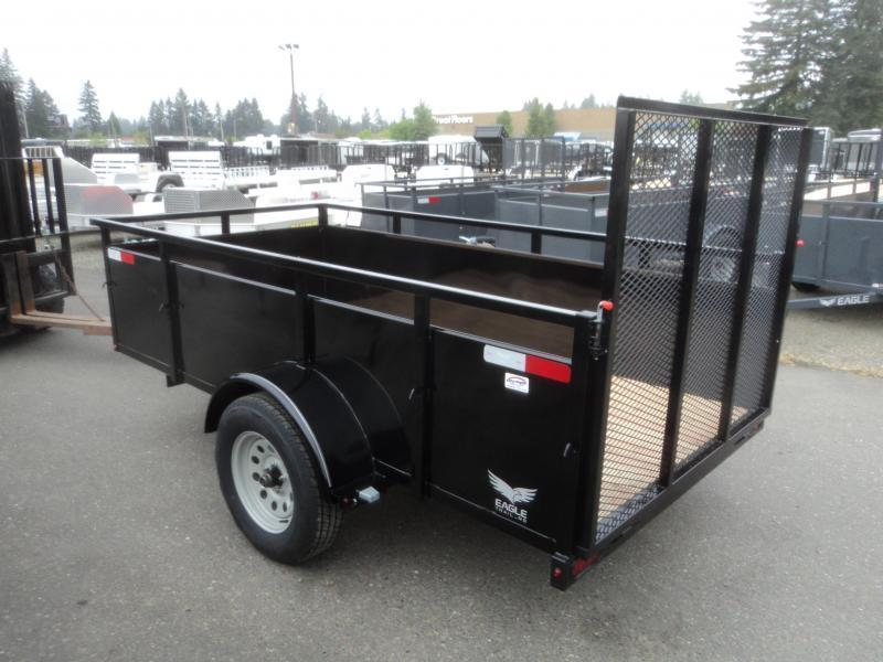2021 Eagle Trailer Falcon 5x10 With Swing Jack Utility Trailer
