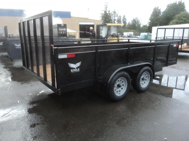 2020 Eagle 7X14 7K Utility with Swing Jack/D Rings