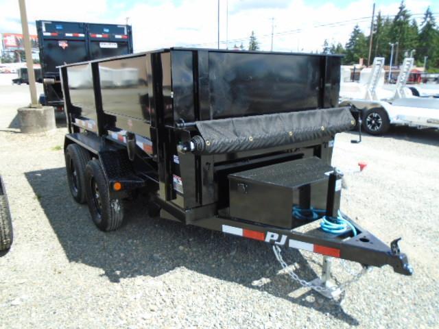 2022 PJ Trailer 5x10 7K w/Spare Tire Mount/Side Extension Kit/Tarp Kit