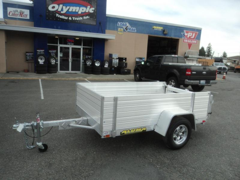 "2021 Aluma 4.5X8 w/24"" Side Kit and Bi-Fold Gate"