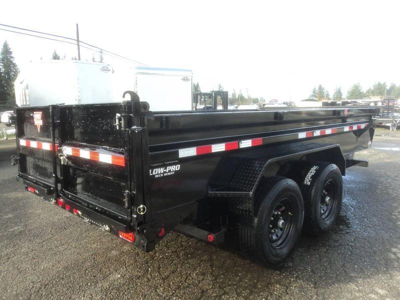 2021 PJ 7x14 14K Dump Trailer with Tarp Kit/Spreader Gate/Tire Mount