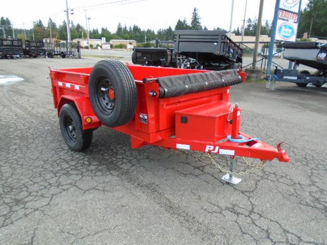 2022 PJ Trailers 5x8 5K w/Tarp Kit/Spare Tire & Mount Dump Trailer