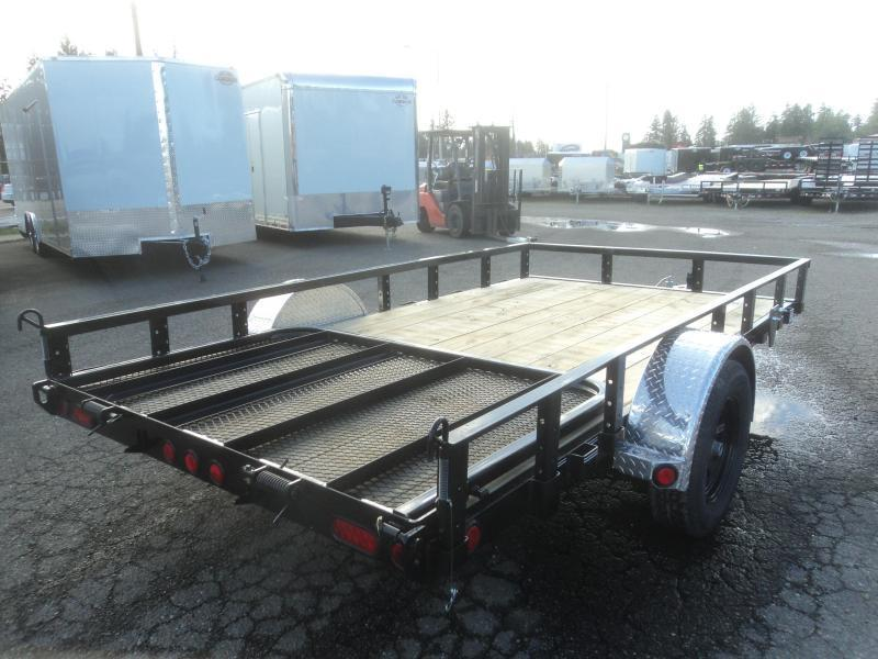 2020 PJ Trailers 7X12 Utility with Fold-In Gate