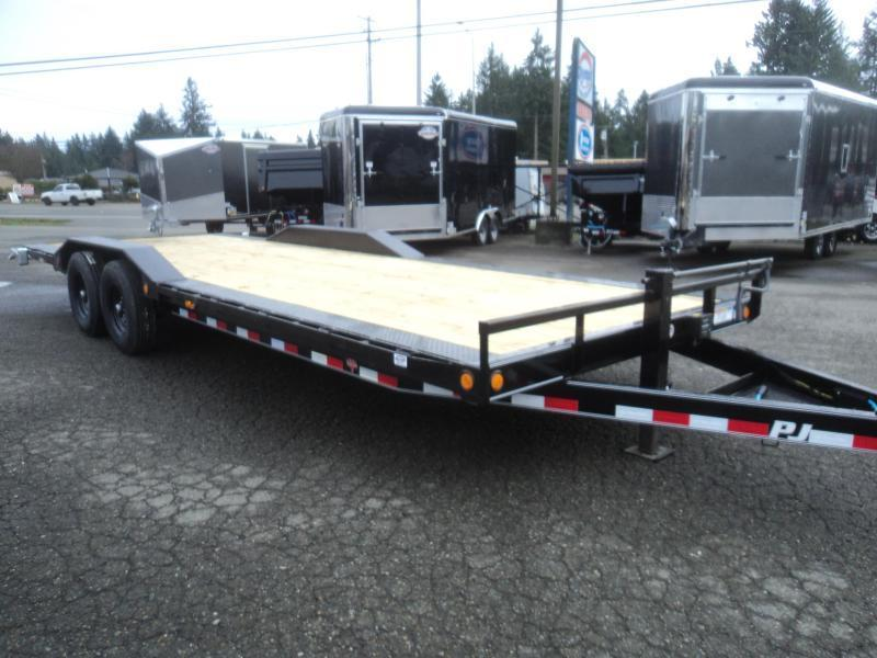 "2021 PJ Trailers 8.5X24 14k 6"" Channel Super Wide Equipment Trailer"