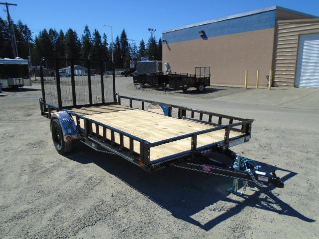 2021 PJ Trailers 7X12 with Side Mount ATV Ramps Utility Trailer