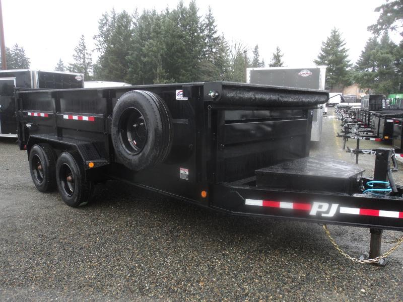 2021 PJ 7x16 20K Heavy Duty Low-Pro Dump Trailer