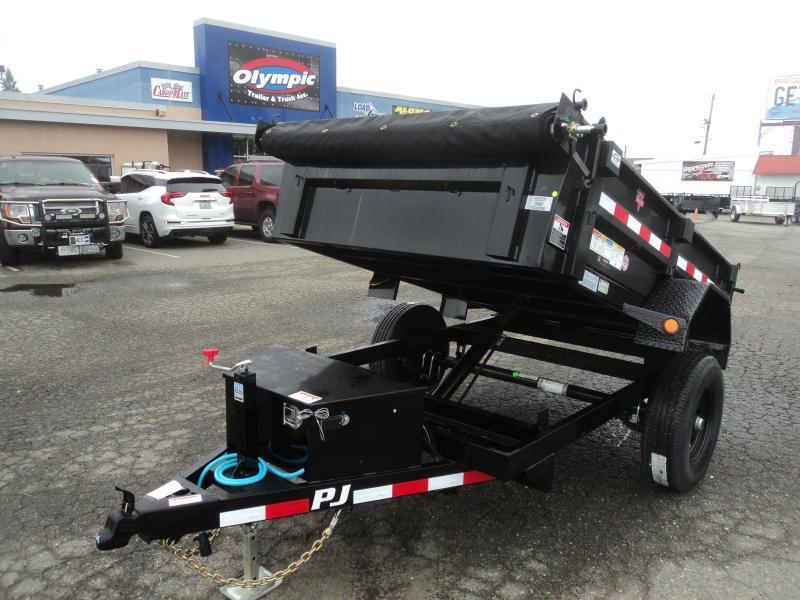 2021 PJ Trailers 5x8 5K w/Tarp Kit Dump Trailer