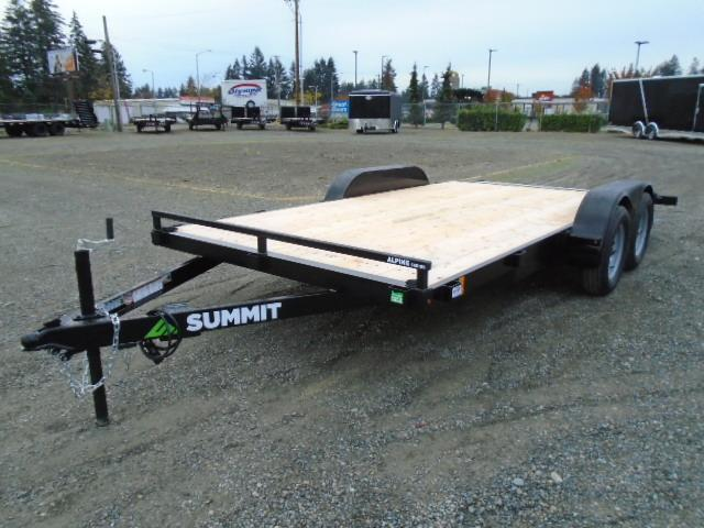 2021 Summit Alpine 7x16 7K Car / Racing Trailer Beavertail