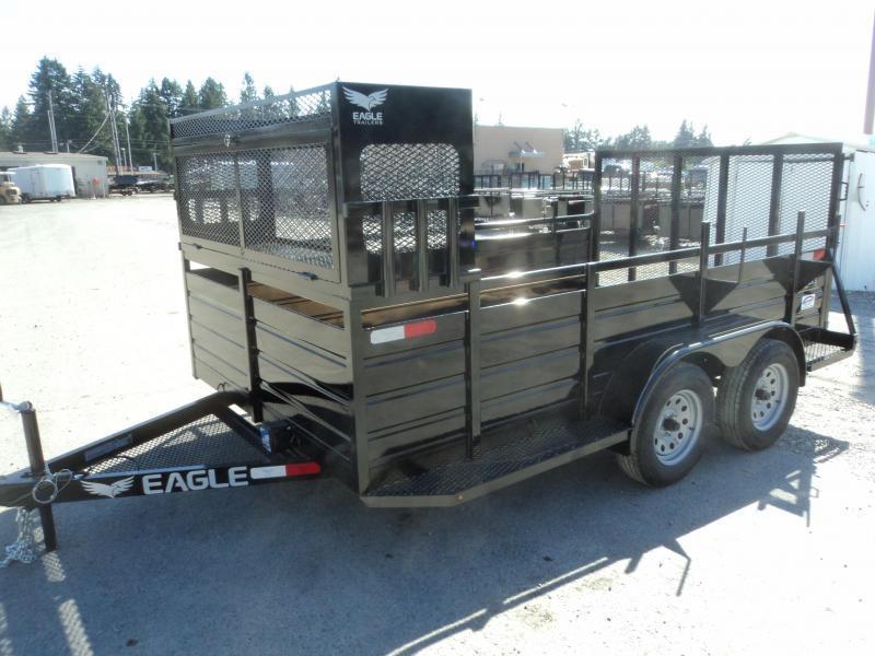 2021 Eagle 7X12 7K w/Landscape Package Utility Trailer