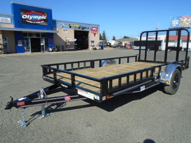 2022 PJ Trailers 7X14 with Side Mount ATV Ramps Utility Trailer