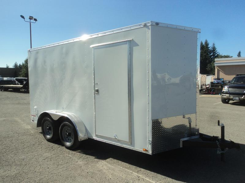 2021 Cargo Mate Trailers 7X14 7k V-Nose w/Extra Height/Rear Ramp Door