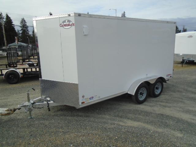 "2021 Cargo Mate Aluminum E-Series 7x14 7K With 6"" Extra Height / Wedge / Ramp Door"