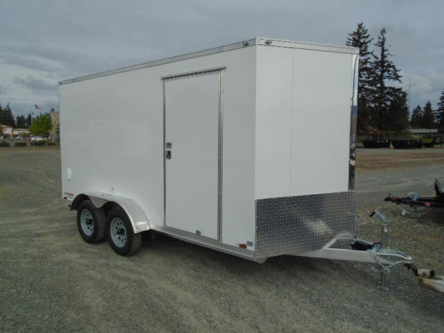 "2021 Cargo Mate Aluminum E-Series 7X14 7K With Wedge / 6"" Extra Height / Ramp Door"