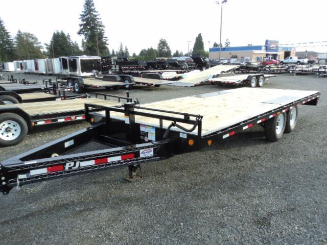 "2021 PJ Trailers 8.5x22 8"" I-Beam Deckover (F8) Equipment Trailer"