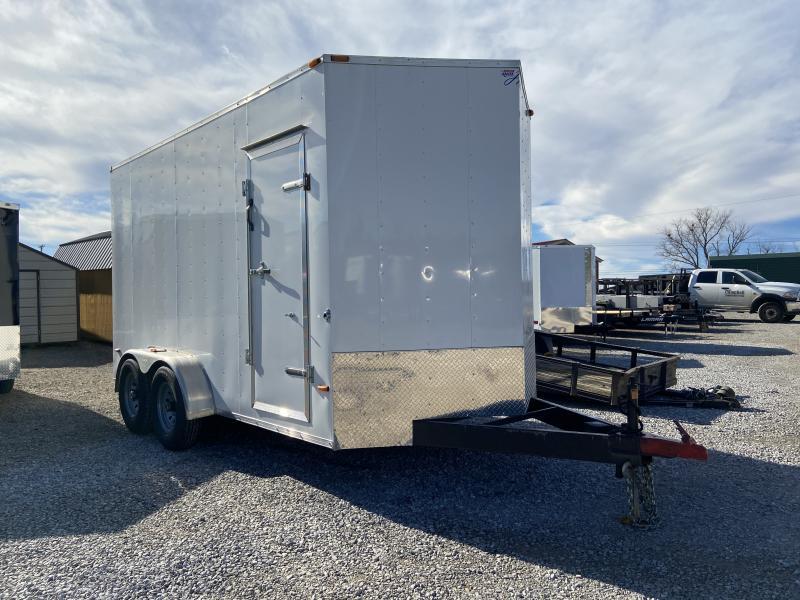 2016 USED 7x14 Enclosed Cargo Trailer