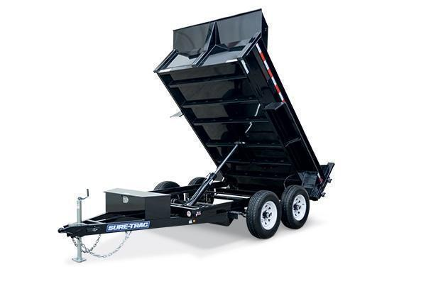 2021 Sure-Trac 6x10 7K Low Profile Dump Trailer [RAMPS + COMBO GATE]