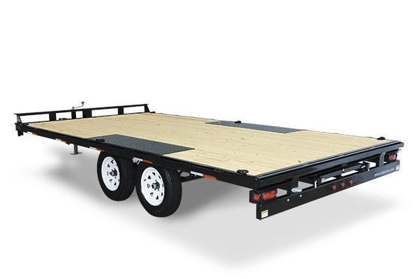 2021 Sure-Trac 8.5x20 10K Flatbed Deckover Equipment Trailer