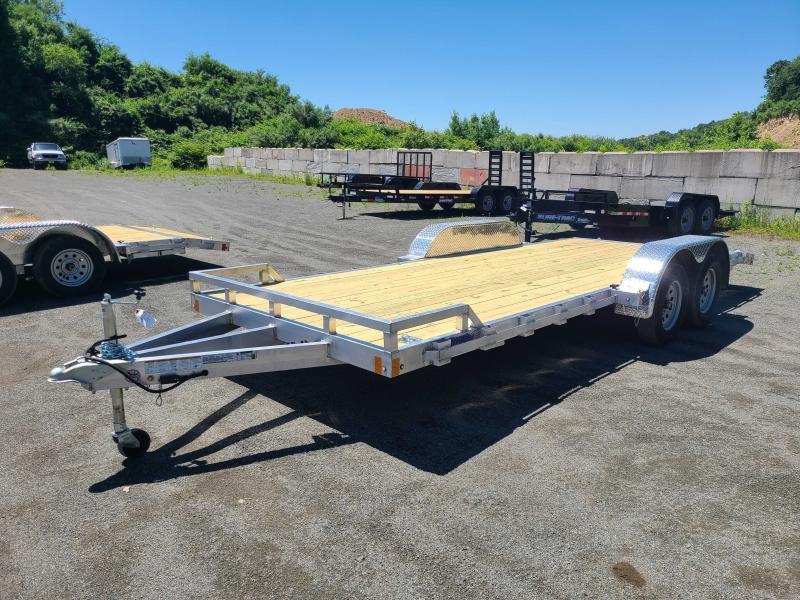 2021 Mission 7x20 Wood Deck Aluminum Car Trailer