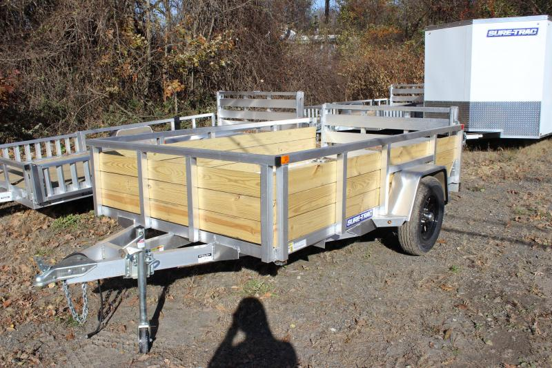 2021 Sure-Trac 6x10 ALUMINUM Tube Top 3-BOARD Utility Trailer
