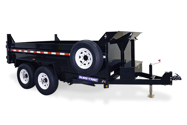 2021 Sure-Trac 7x14 14K LowProfile Dump Trailer [TELESCOPIC]