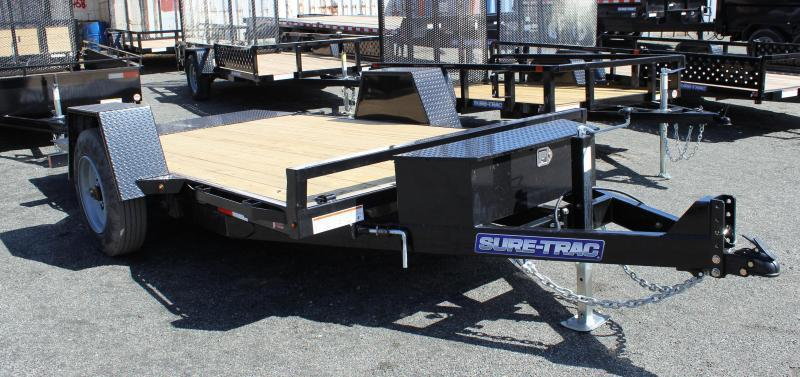 2022 Sure-Trac 6.5X12 10K Single Axle Tilt Bed Equipment Equipment Trailer
