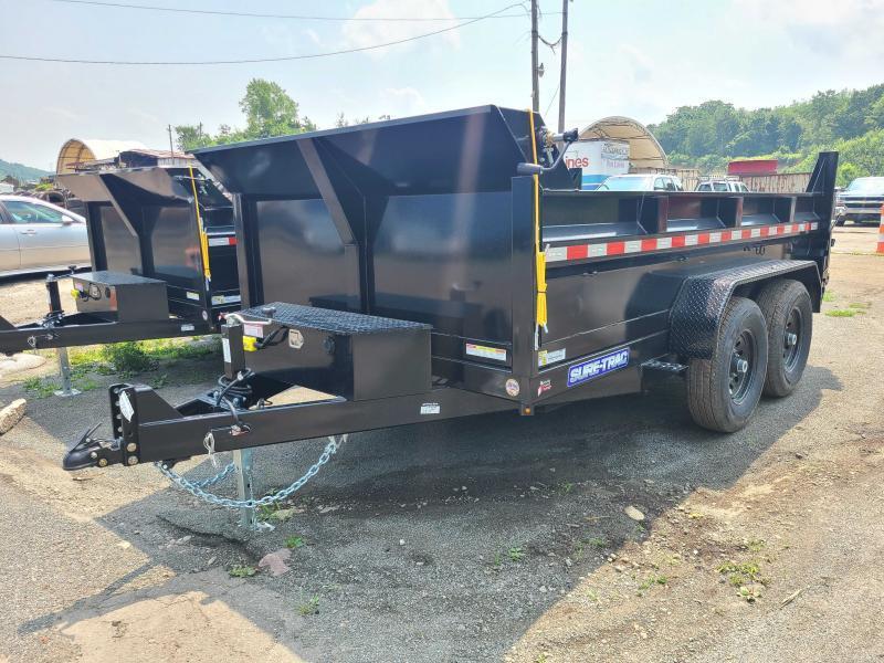 2021 Sure-Trac 7x12 12K Low Profile Dump Trailer [DUAL RAM]