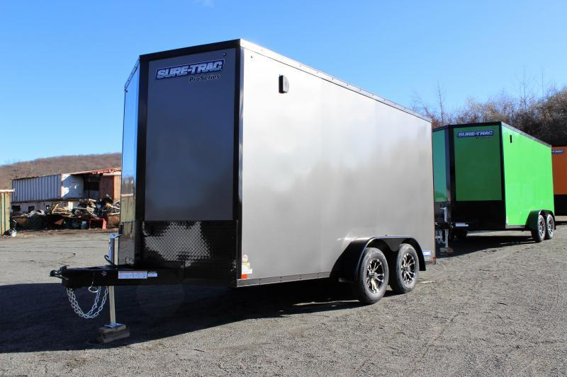 2021 Sure-Trac 7x14 Enclosed PRO SERIES WEDGE UTV BLACKOUT Cargo Trailer