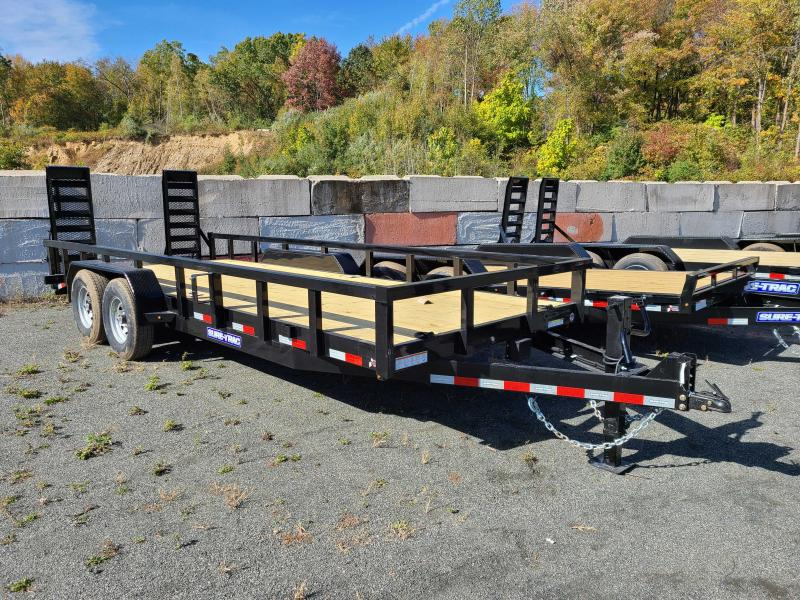 2021 Sure-Trac 7x18+2 14K Heavy Duty Tube Top Equipment Trailer