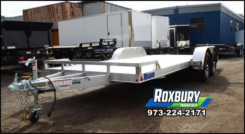 2021 Mission 7X18 7K Aluminum Car Trailer