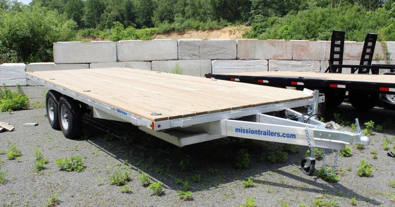 2020 Mission 101X20 10K Aluminum Deckover Equipment Trailer