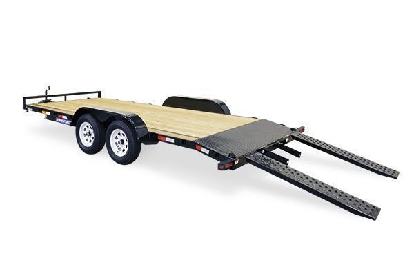2021 Sure-Trac 7x18 10K Wood Deck Car Trailer