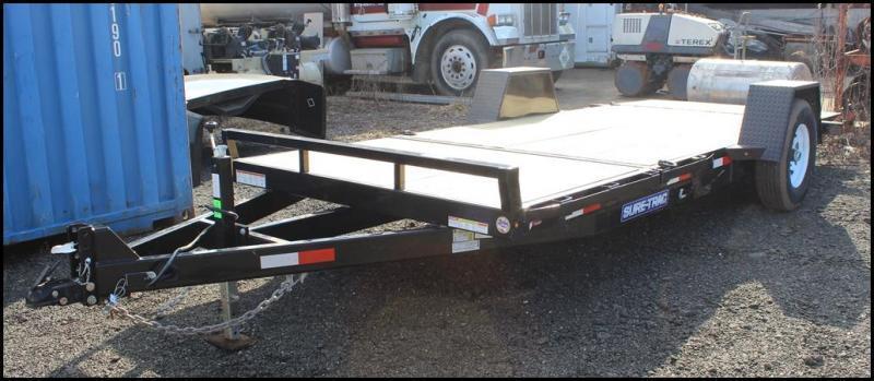 2021 Sure-Trac 6.5x12+4 7.8K Single Axle Tilt Equipment Trailer