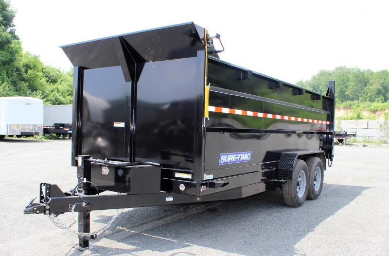 2021 Sure-Trac 7x16 14K LowProfile Dump Trailer [SCISSOR-HIGH SIDES]