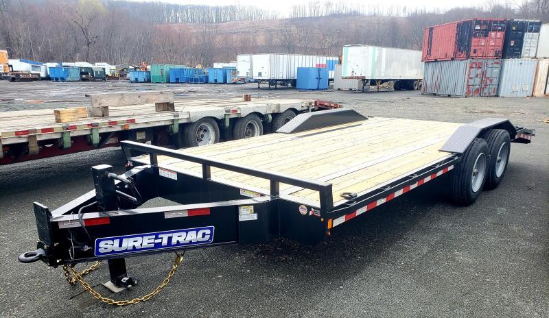 2020 Sure-Trac 8.5x18 20K Full Width Implement Equipment trailer