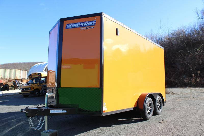 2021 Sure-Trac 7x14 Enclosed PRO SERIES WEDGE UTV BLACKOUT Cargo Trailer