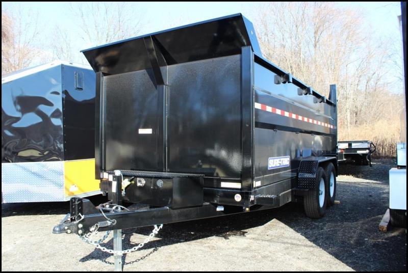 2021 Sure-Trac 7x14 14K LowProfile Dump Trailer [SCISSOR - HIGH SIDE]