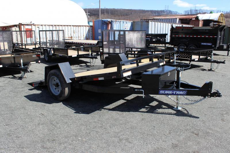 2021 Sure-Trac 6.5X12 10K Single Axle Tilt Bed Equipment Equipment Trailer