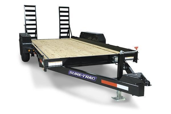 2021 Sure-Trac 7x18 14K Skid Steer Equipment Trailer