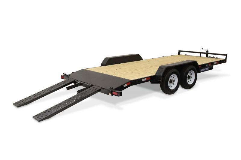 2021 Sure-Trac 7x20 7K Wood Deck Car Trailer