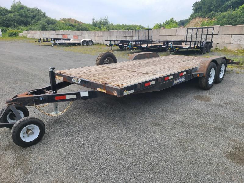 2015 Sure-Trac 7x20 10K Wood Deck Car Trailer
