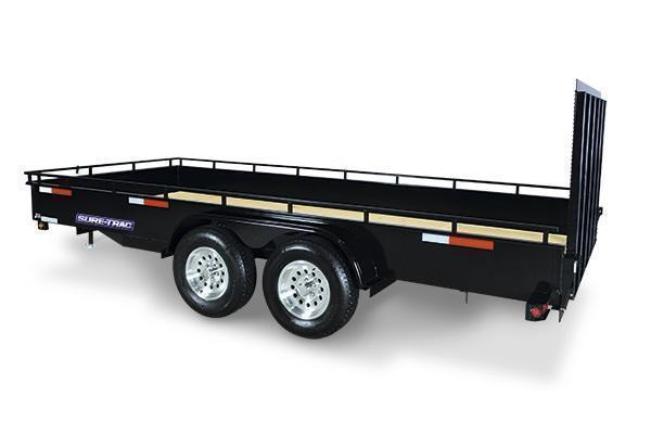 2021 Sure-Trac 7x16 Steel High Side Utility Trailer