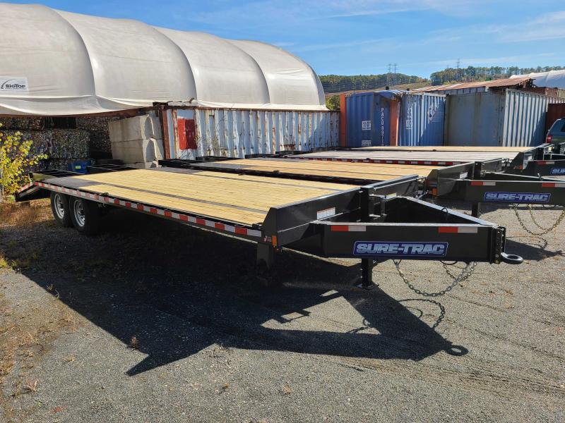 2021 Sure-Trac 8.5 x 20 15K HD Beavertail Deckover Equipment Trailer
