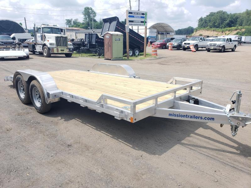 2021 Mission 7x18 Wood Deck Aluminum Car Trailer