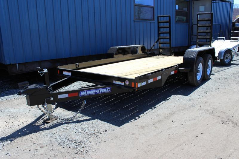 2021 Sure-Trac 7x14 14K Skid Steer Equipment Trailer