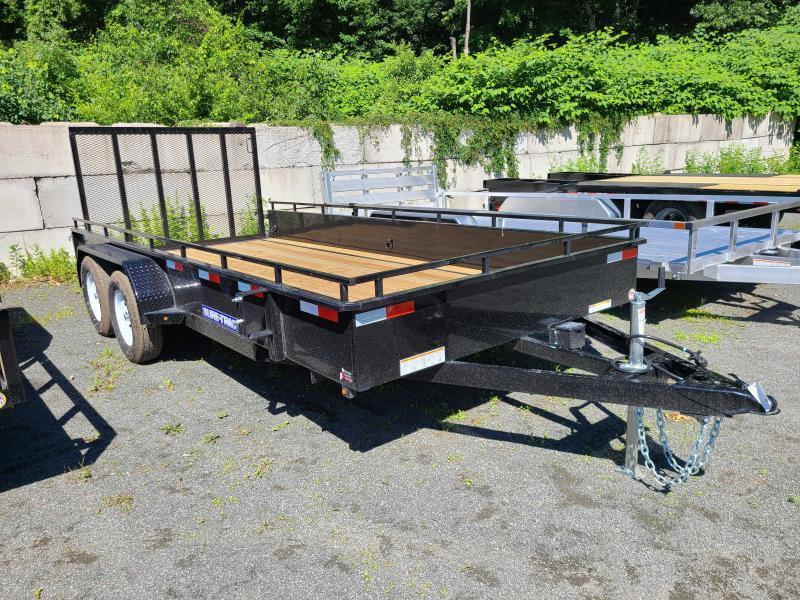 2021 Sure-Trac 7x16 Steel High Side Utility Trailer