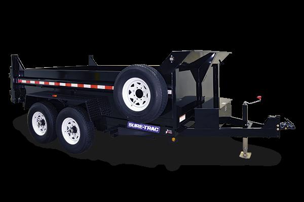 2021 Sure-Trac 7x14 14K LowProfile Dump Trailer [DUAL RAM]